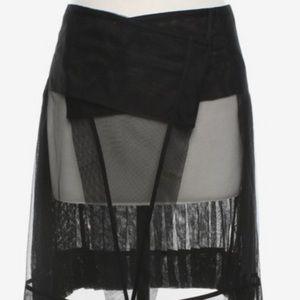 BCBG Runway pleated tulle skirt